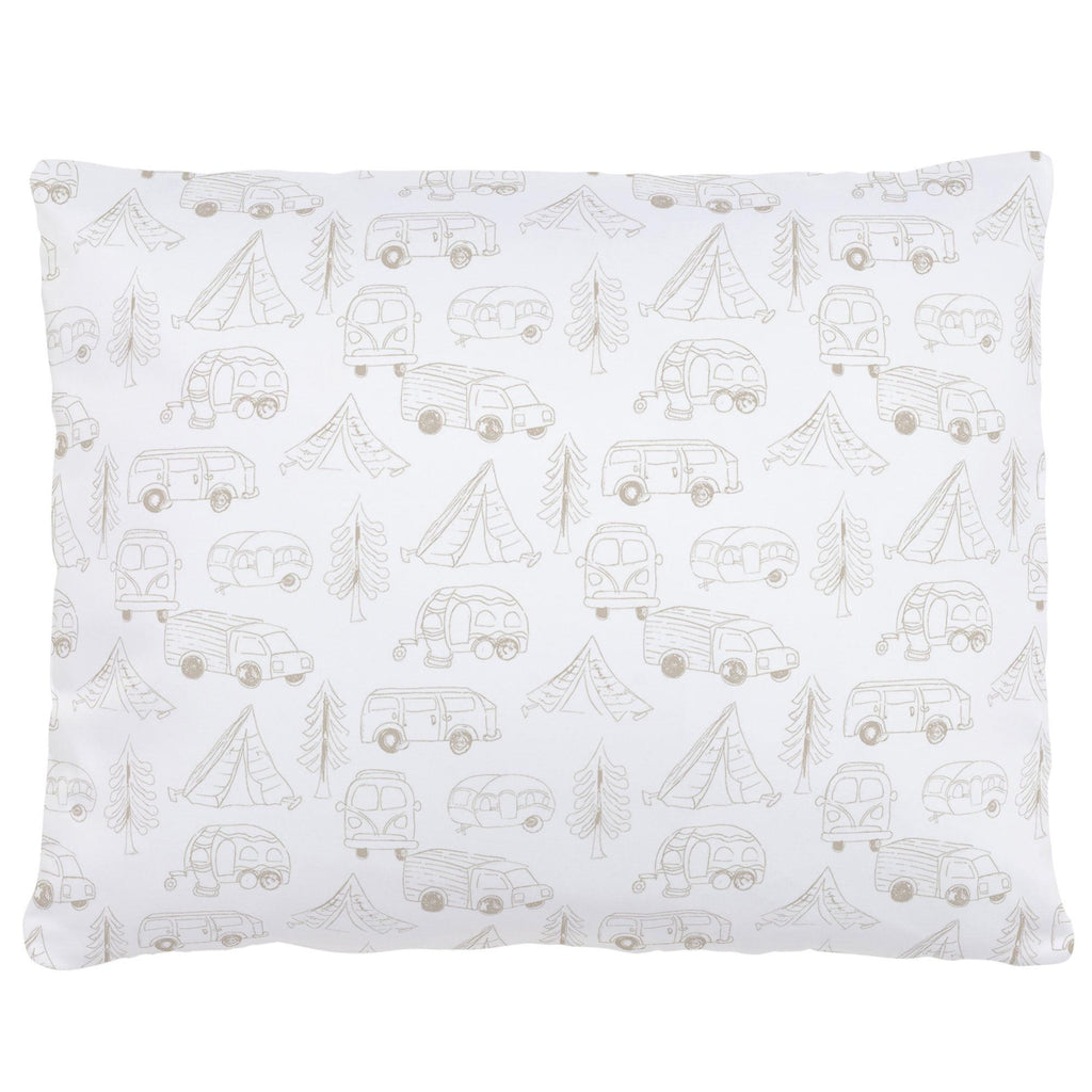 Product image for Taupe Little Campers Accent Pillow
