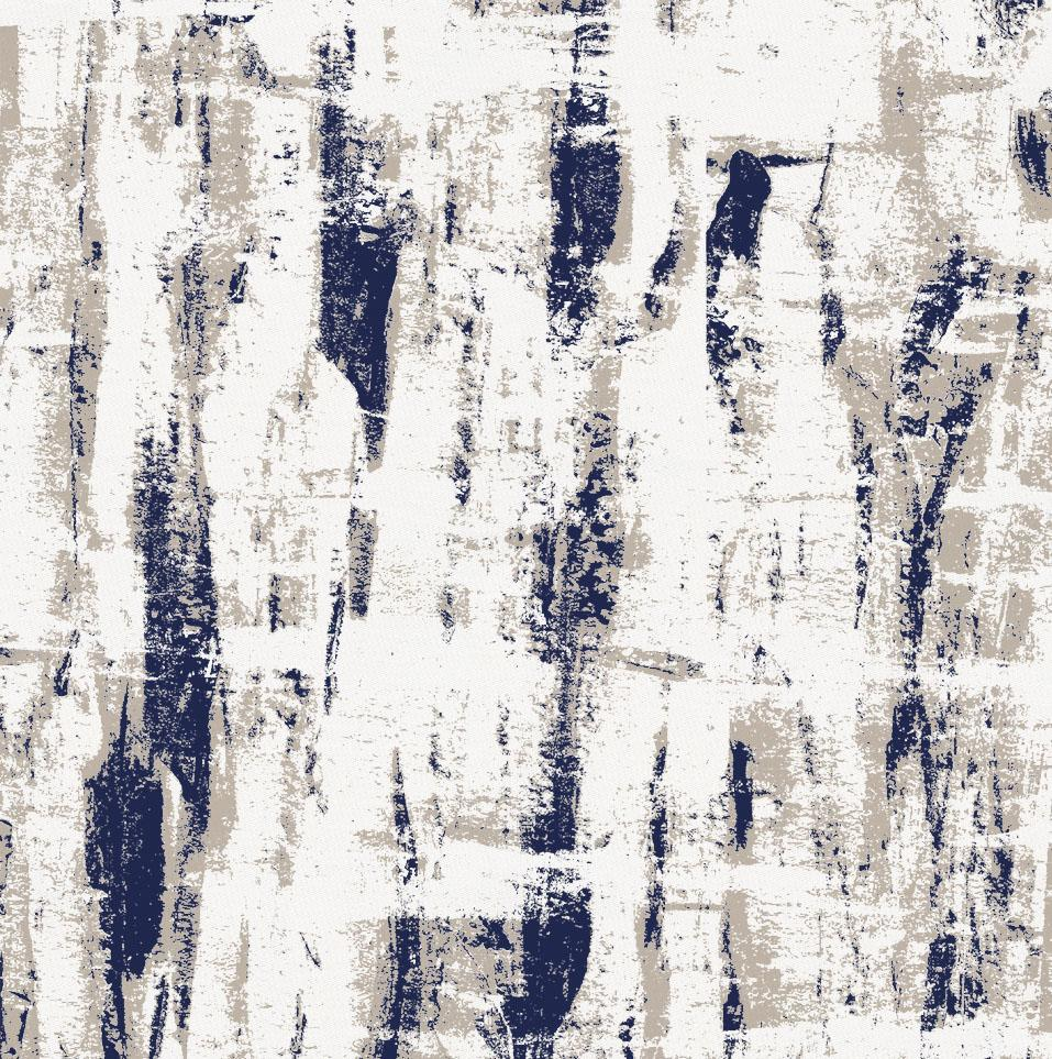 Product image for Navy and Taupe Birch Fabric