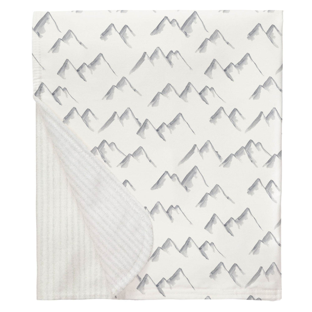 Product image for Watercolor Mountains Baby Blanket