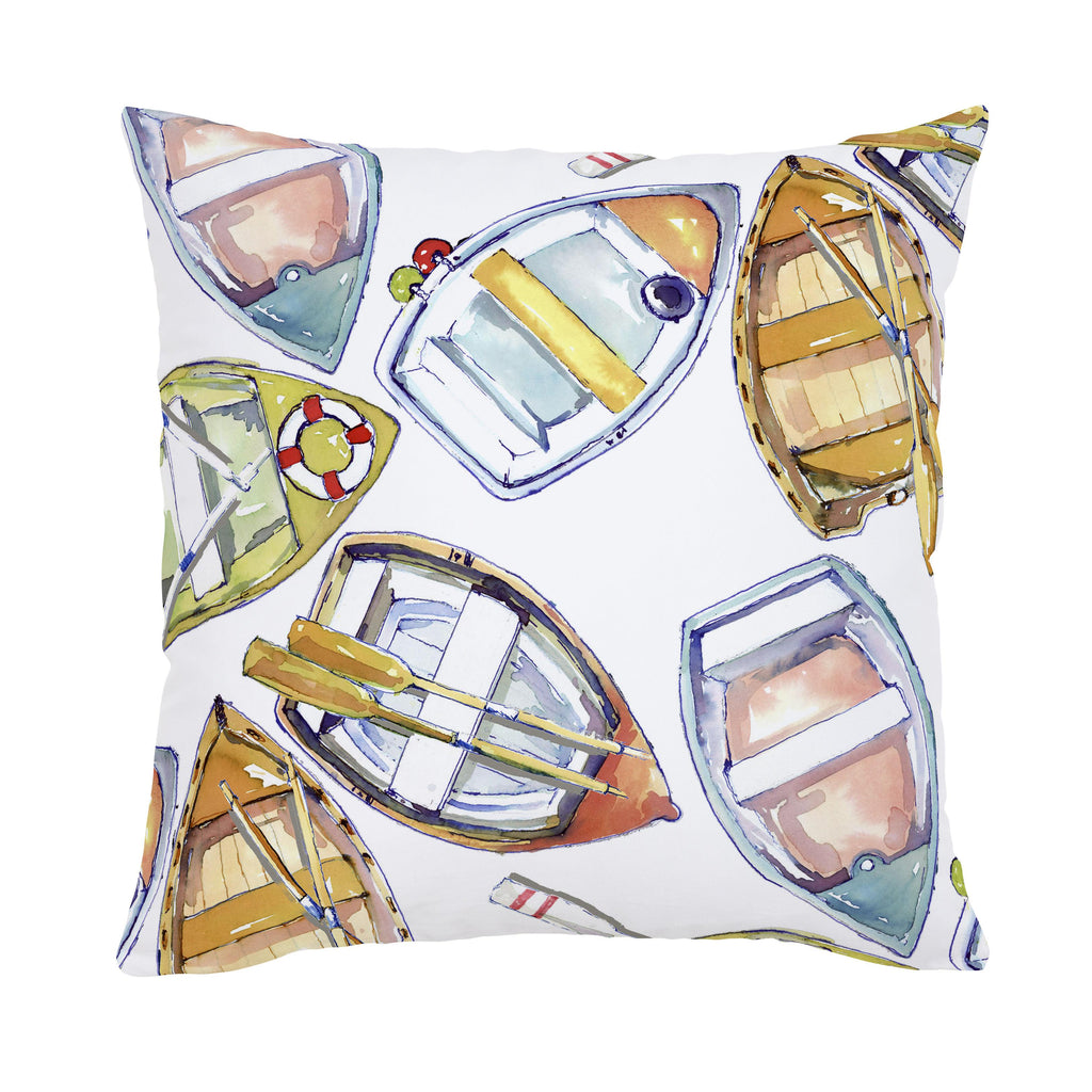 Product image for Watercolor Boats Throw Pillow