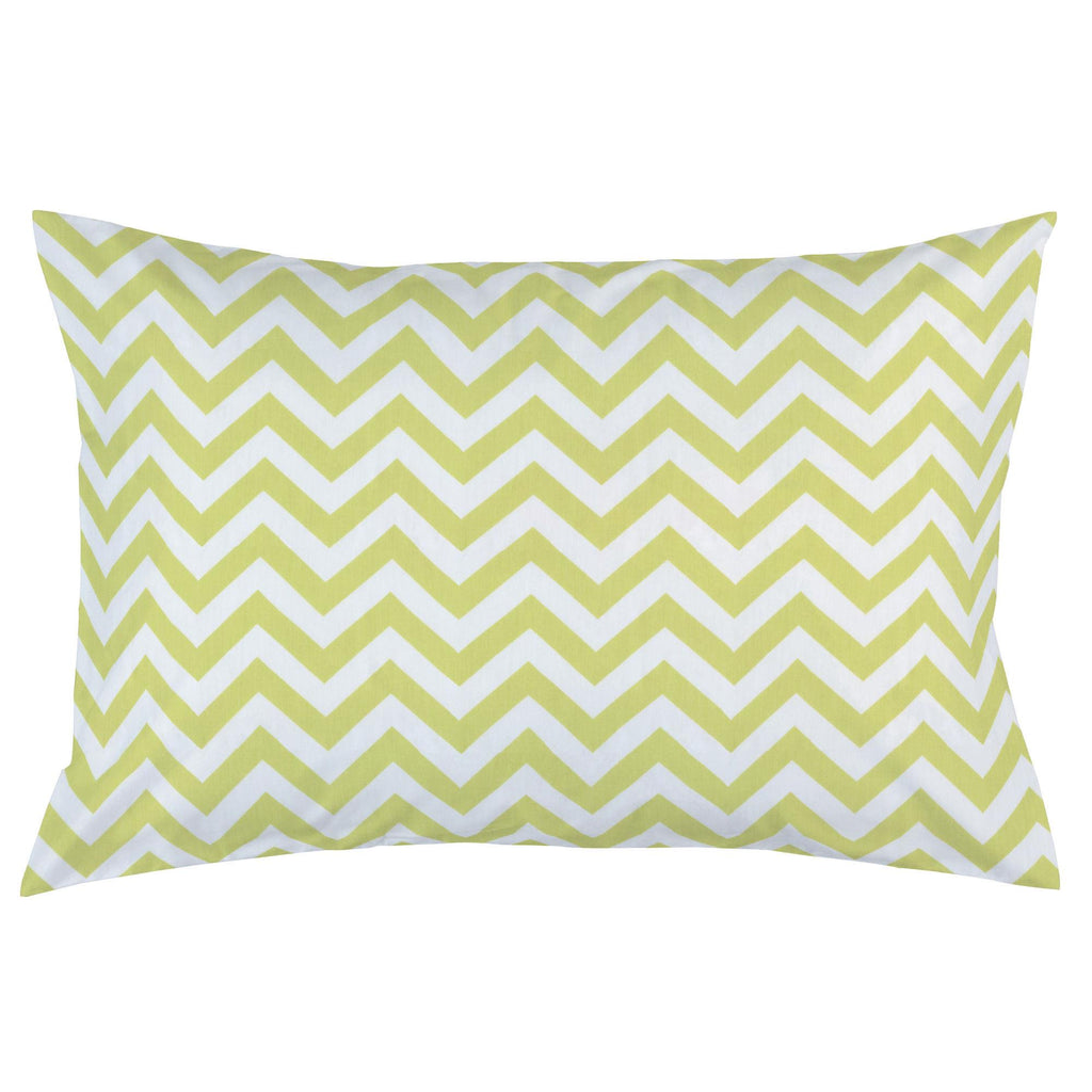 Product image for Light Lime Zig Zag Pillow Case