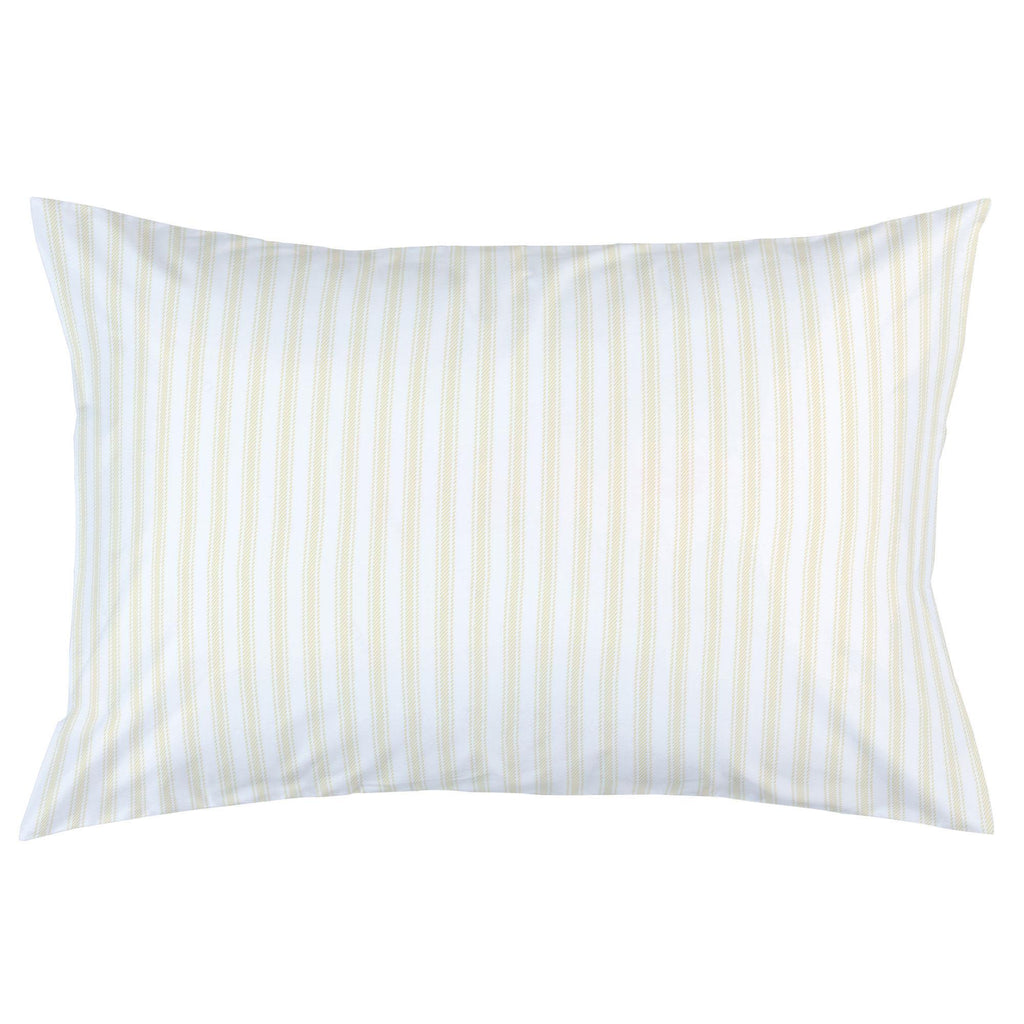 Product image for Pale Yellow Ticking Stripe Pillow Case