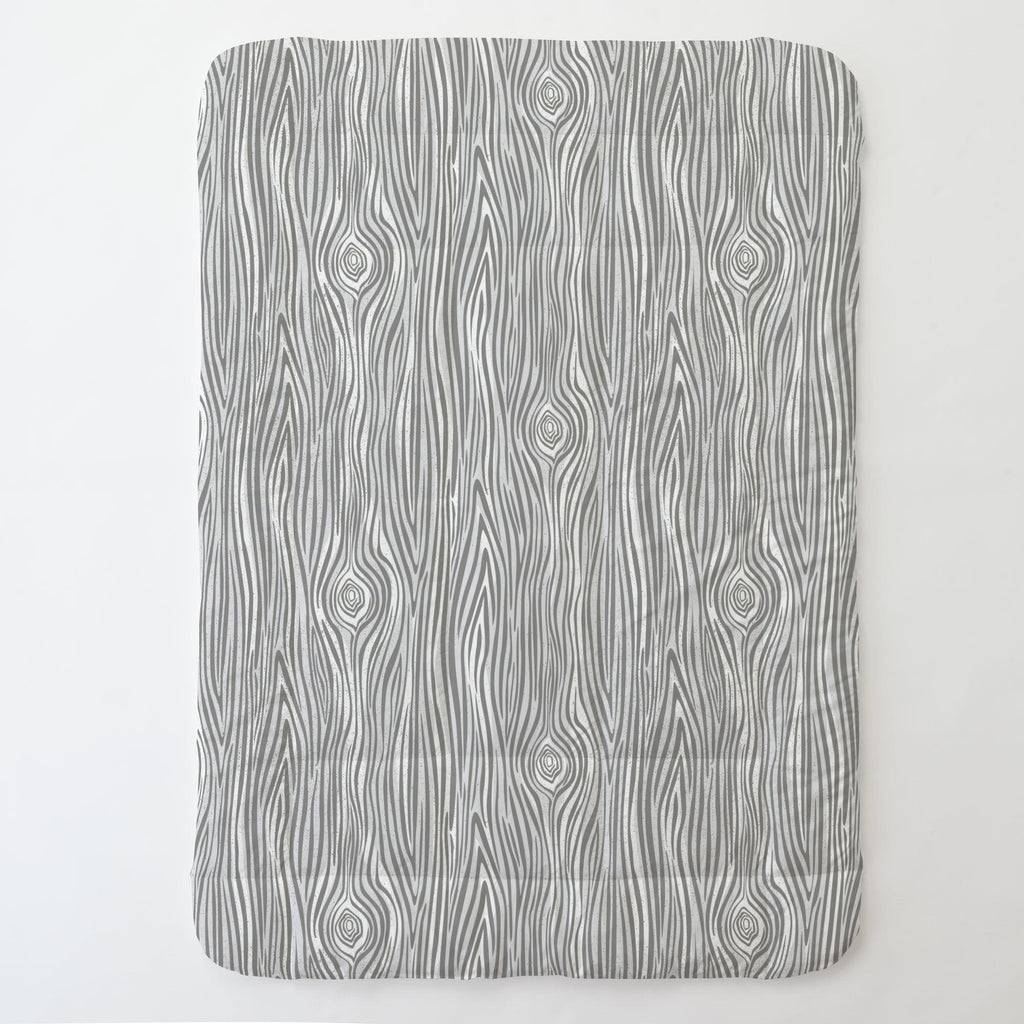 Product image for Gray Large Woodgrain Toddler Comforter