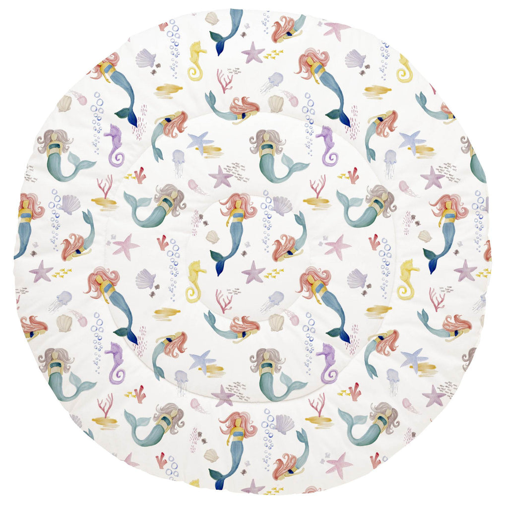 Product image for Watercolor Mermaids Baby Play Mat