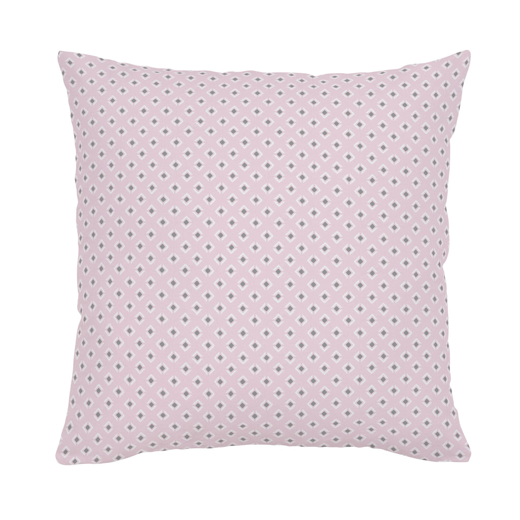 Product image for Pink and Gray Diamond Throw Pillow