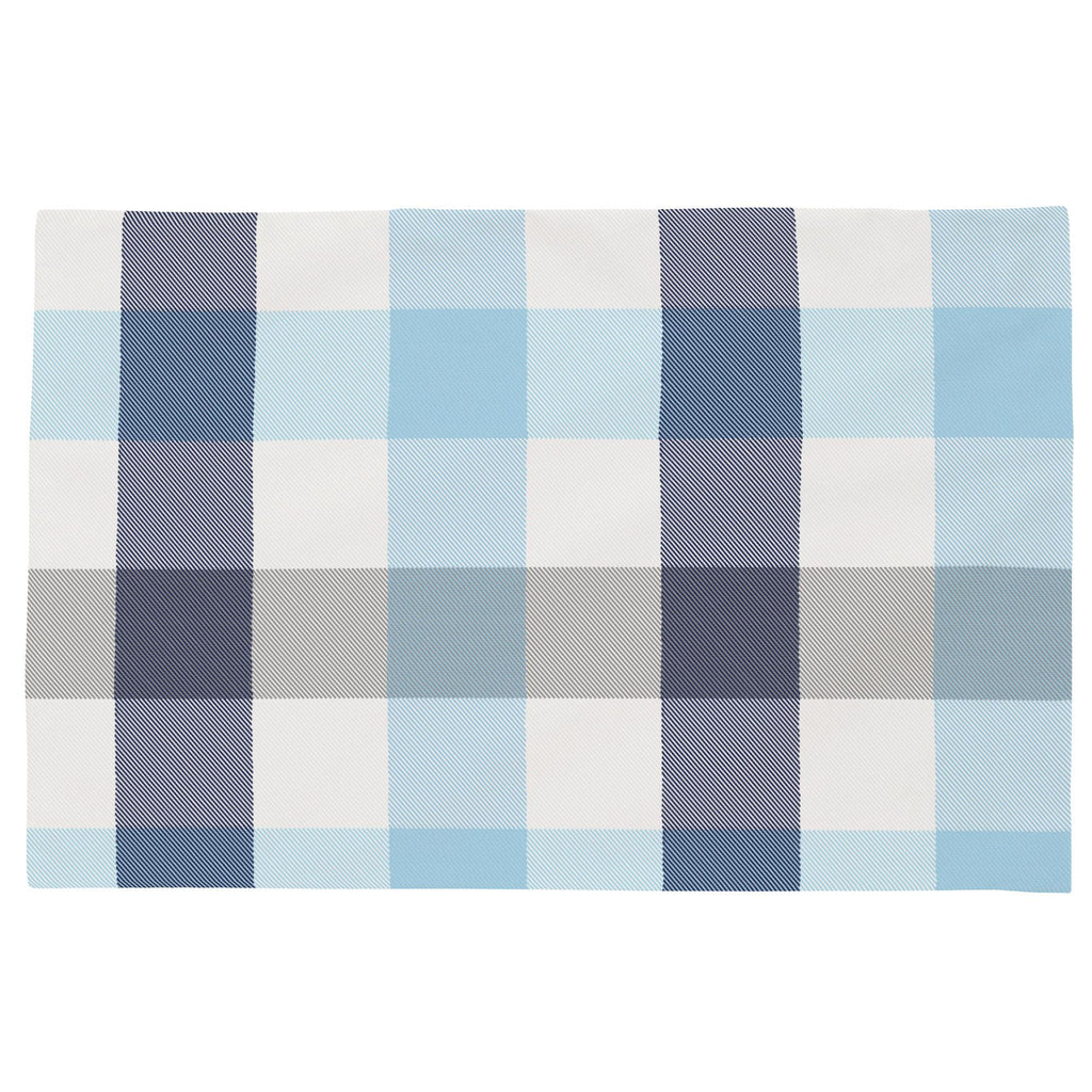 Product image for Navy and Lake Blue Buffalo Check Toddler Pillow Case