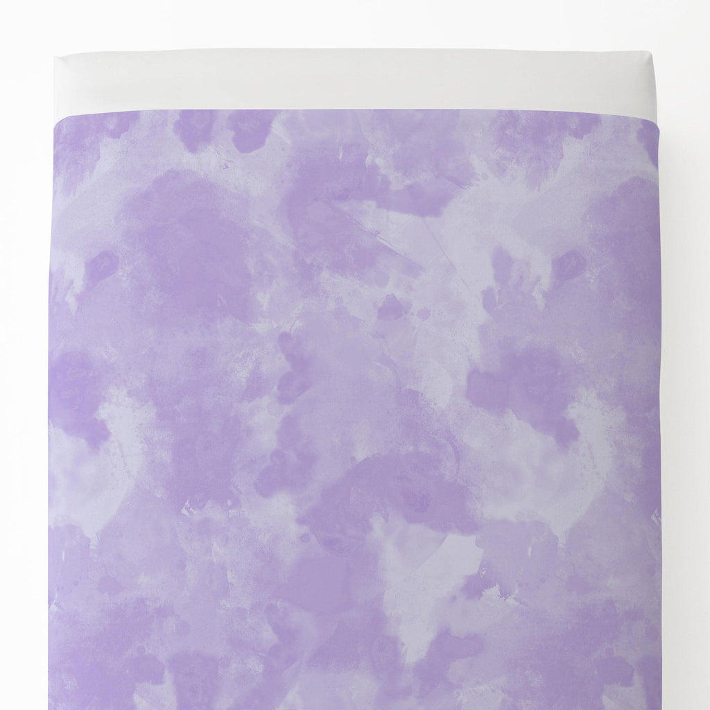 Product image for Lilac Watercolor Toddler Sheet Top Flat