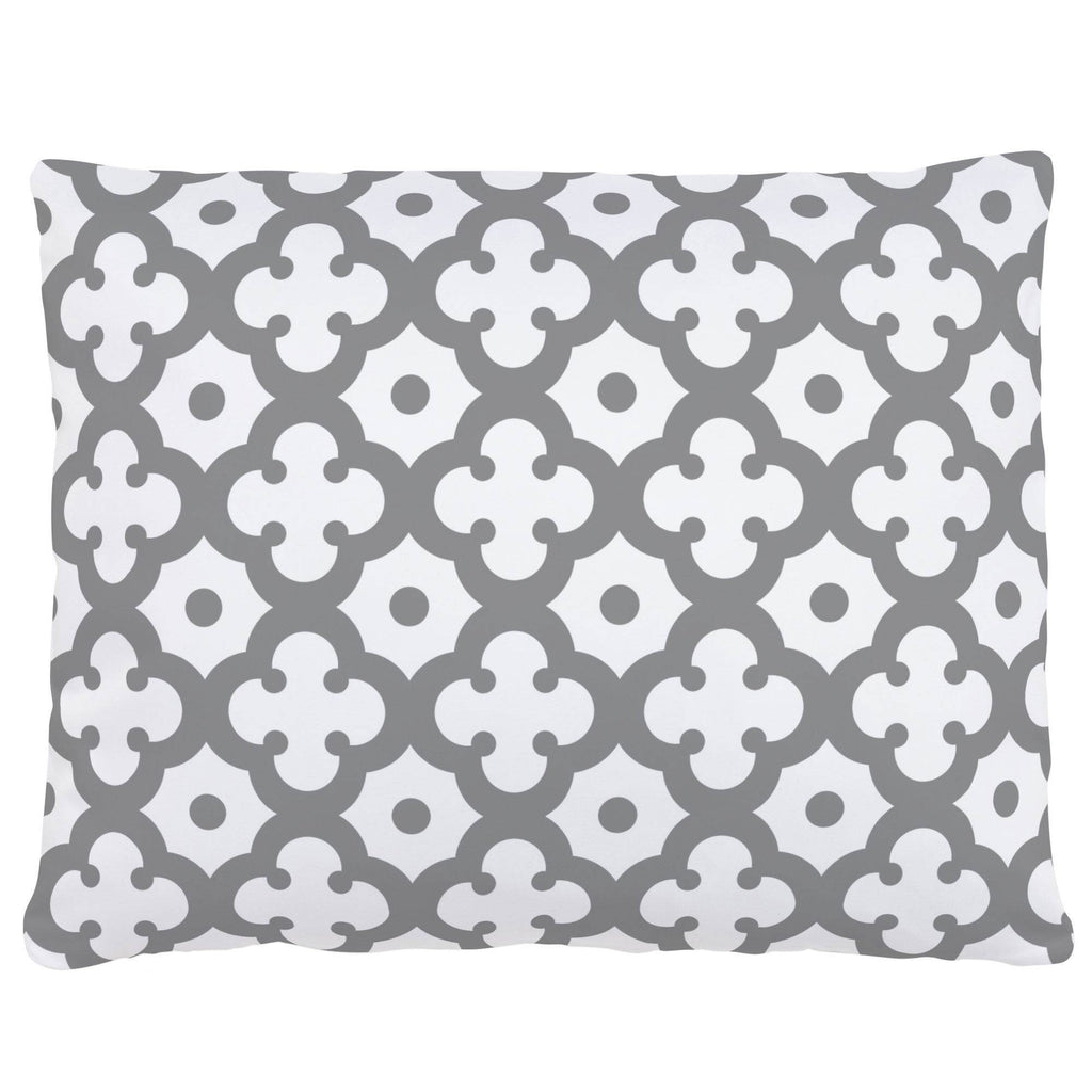 Product image for Cloud Gray Moroccan Tile Accent Pillow
