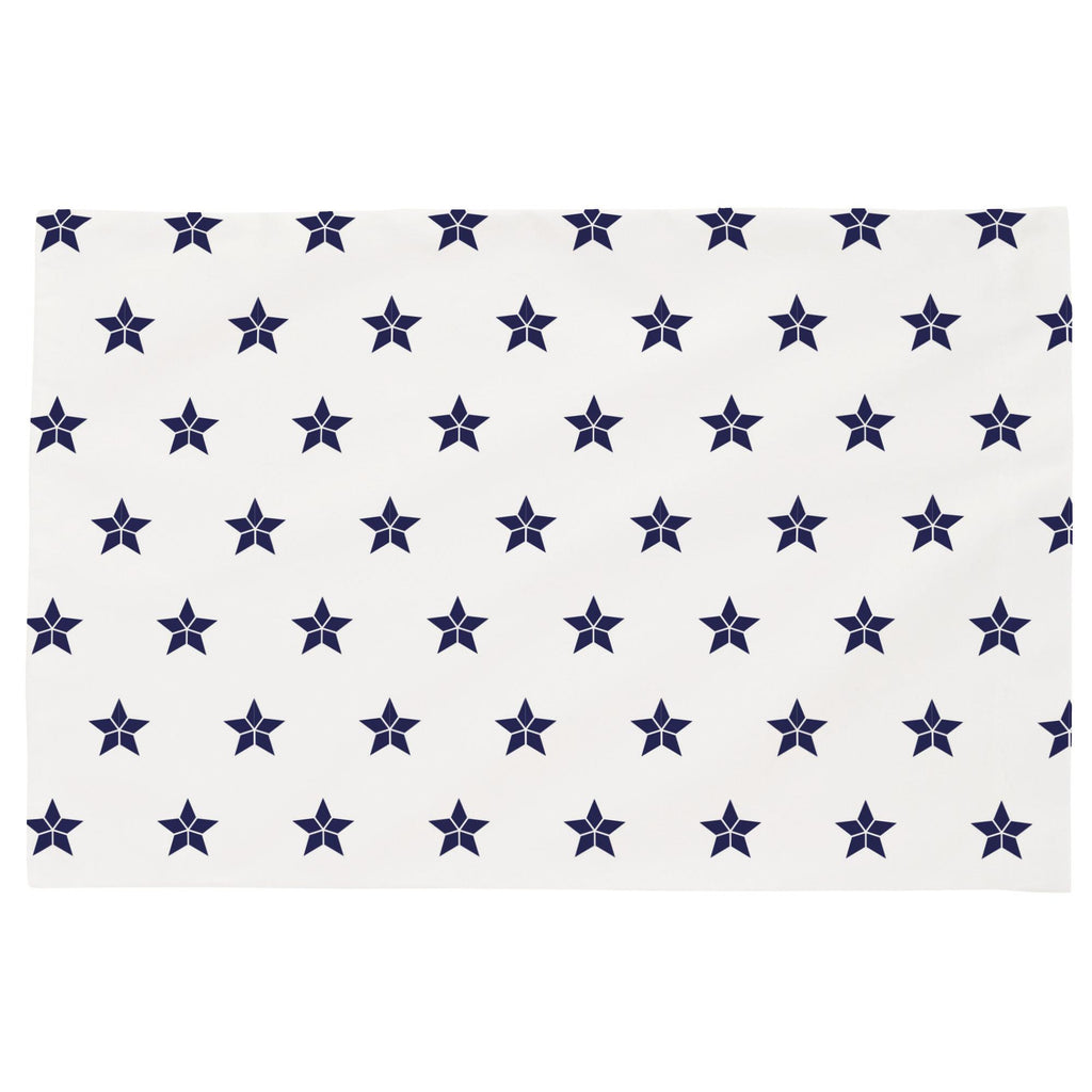 Product image for Navy Mosaic Stars Toddler Pillow Case