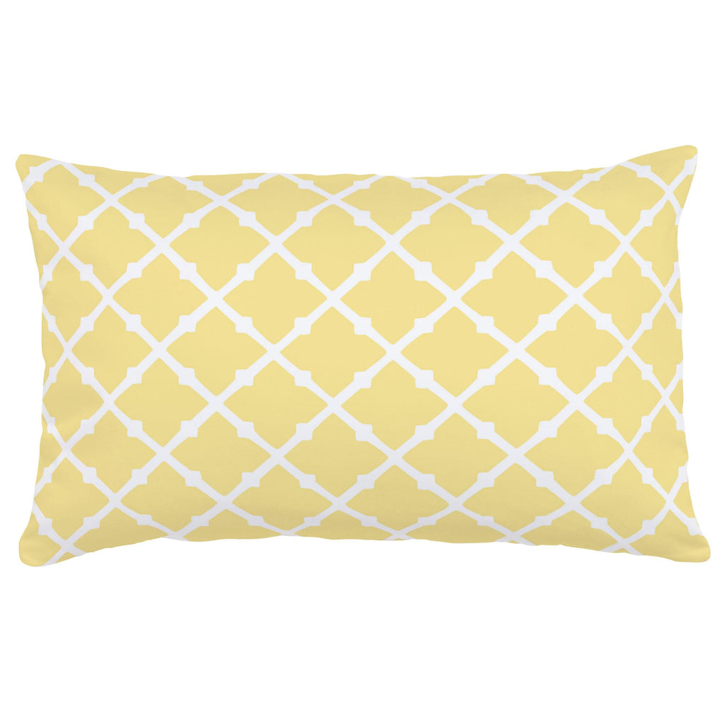 Product image for Banana Yellow Lattice Lumbar Pillow