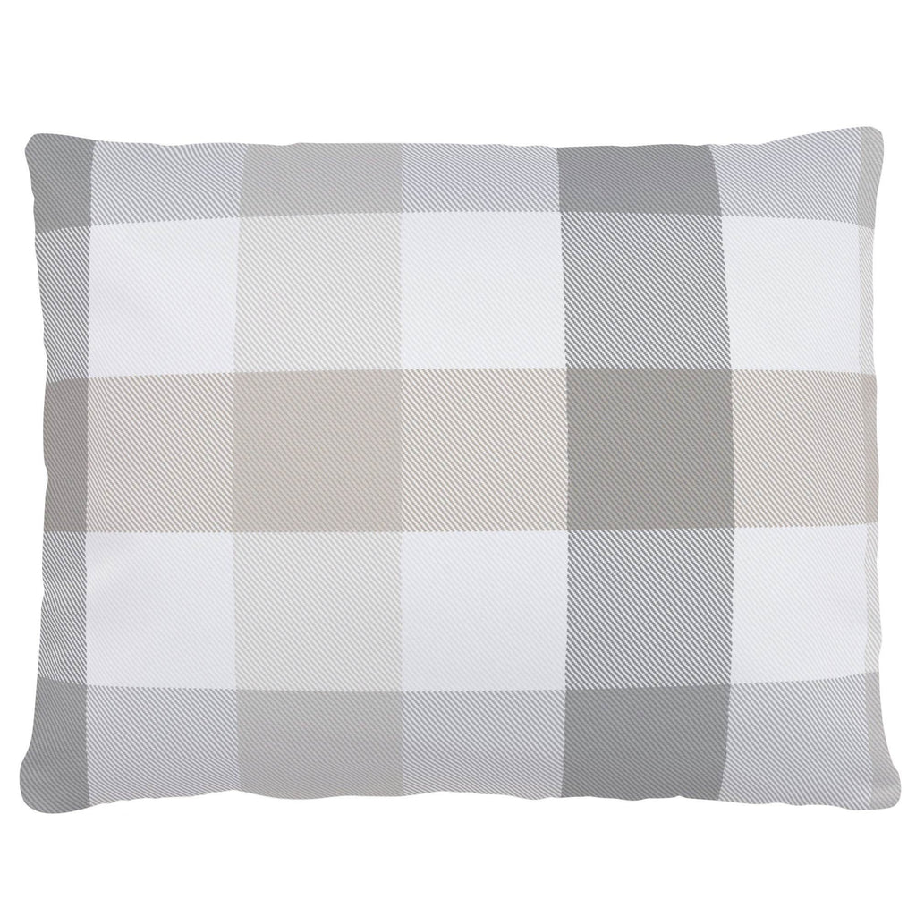 Product image for Gray and Taupe Buffalo Check Accent Pillow