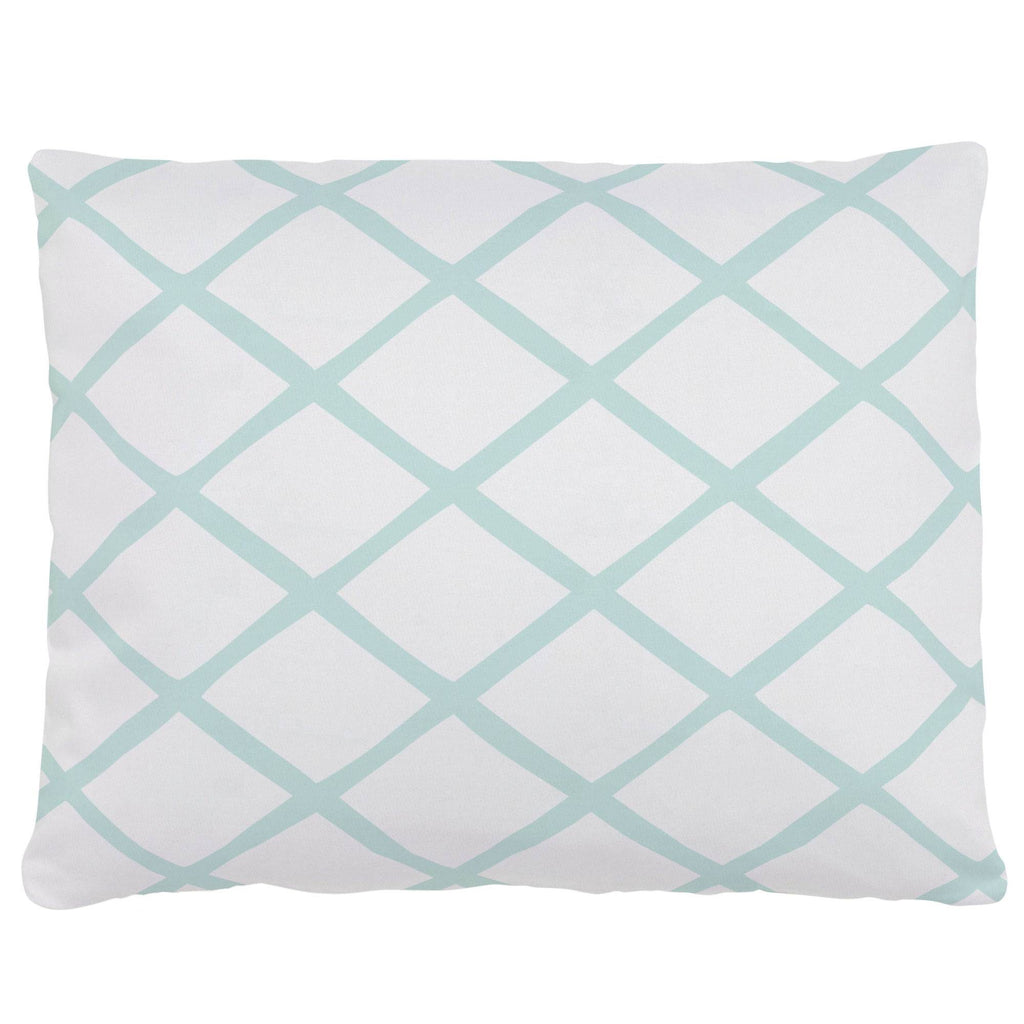 Product image for Icy Mint Trellis Accent Pillow