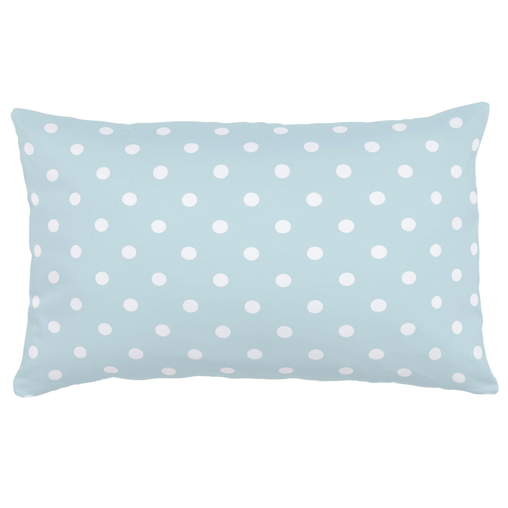 Product image for Mist and White Polka Dot Lumbar Pillow