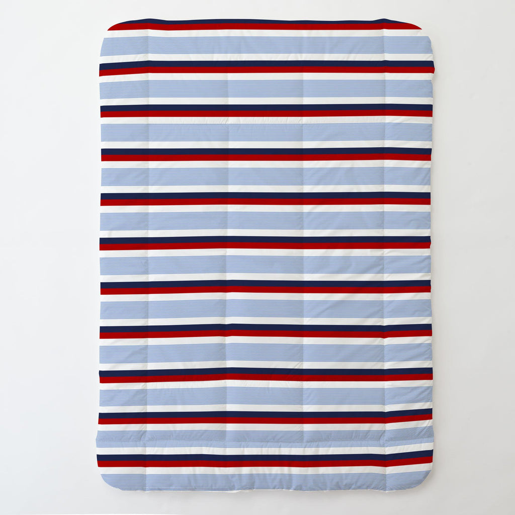 Product image for Red and Blue Stripe Toddler Comforter