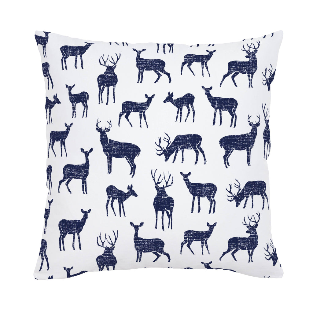 Product image for Windsor Navy Deer Throw Pillow
