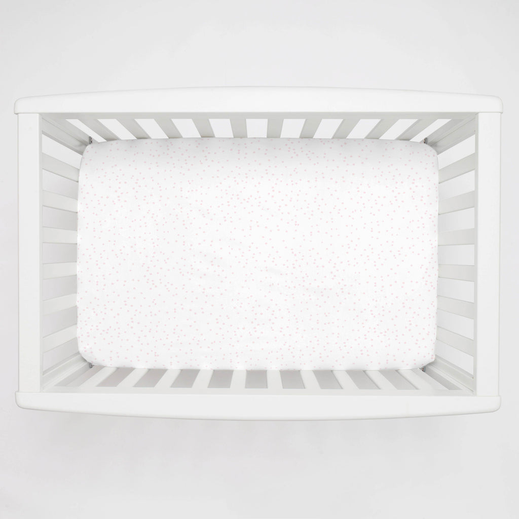 Product image for Pink Snowfall Mini Crib Sheet