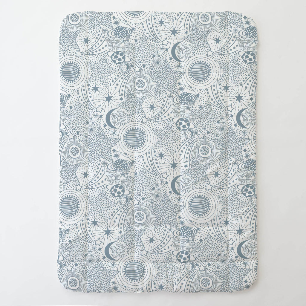 Product image for Steel Blue Galaxy Toddler Comforter