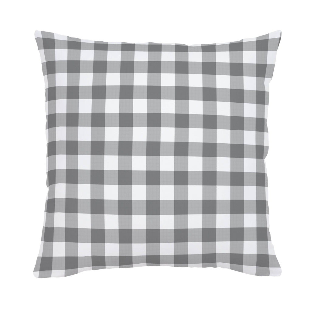 Product image for Gray Gingham Throw Pillow