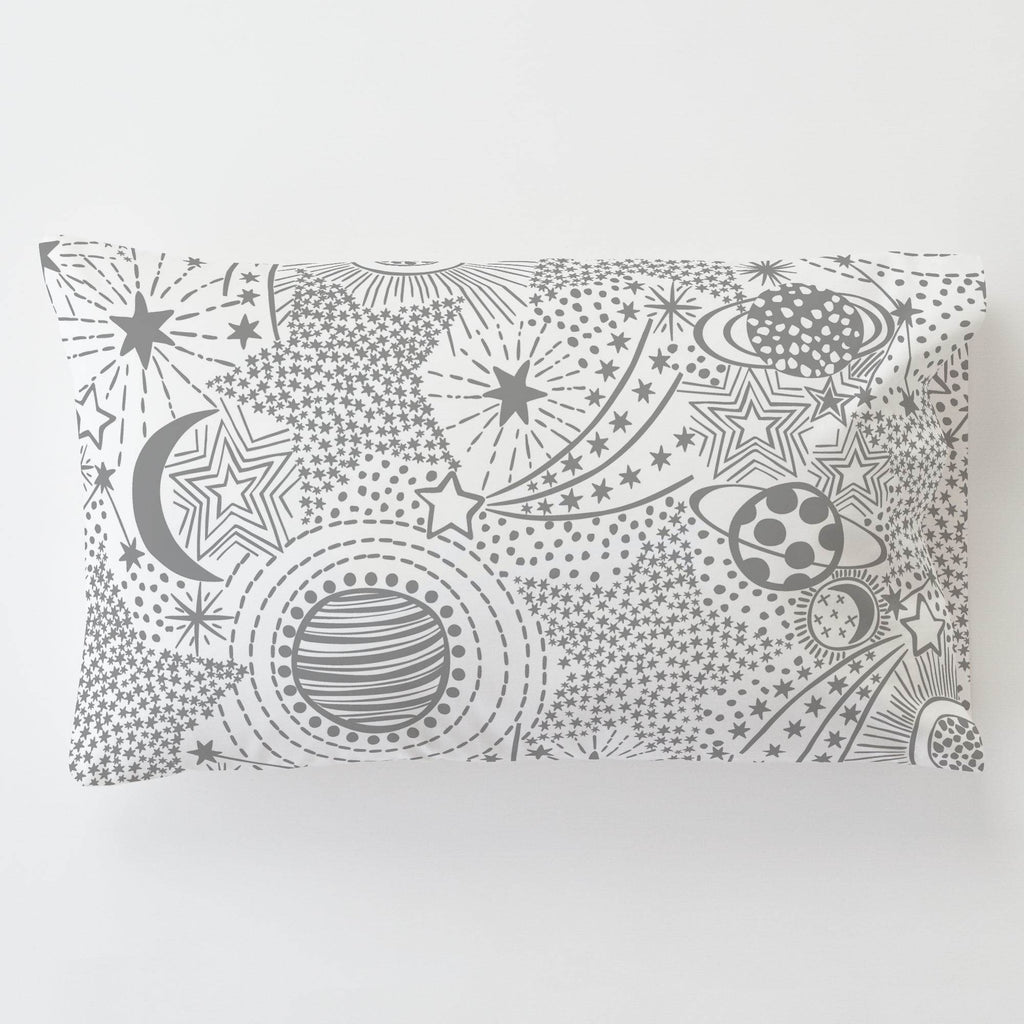 Product image for Cloud Gray Galaxy Toddler Pillow Case with Pillow Insert