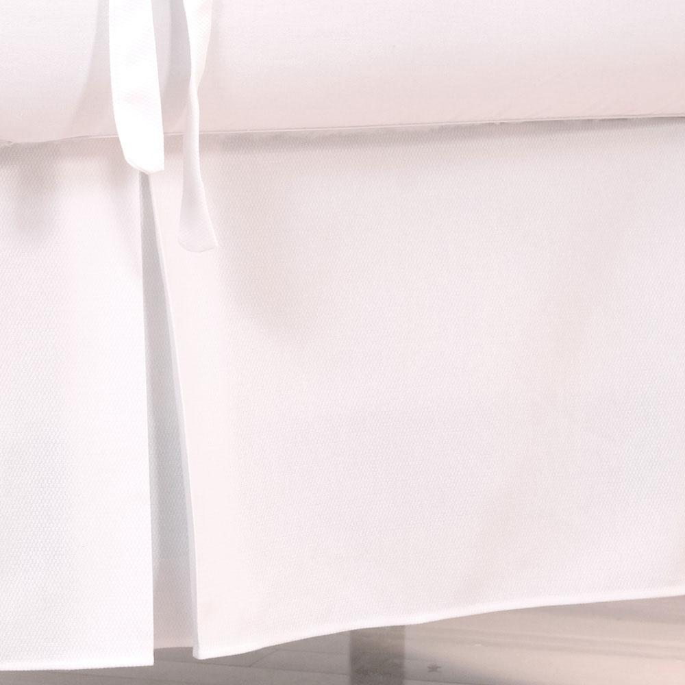 Product image for White Pique Crib Skirt