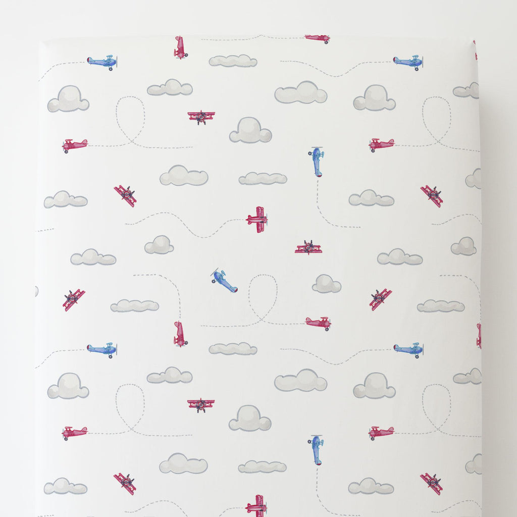 Product image for Take Flight Toddler Sheet Bottom Fitted