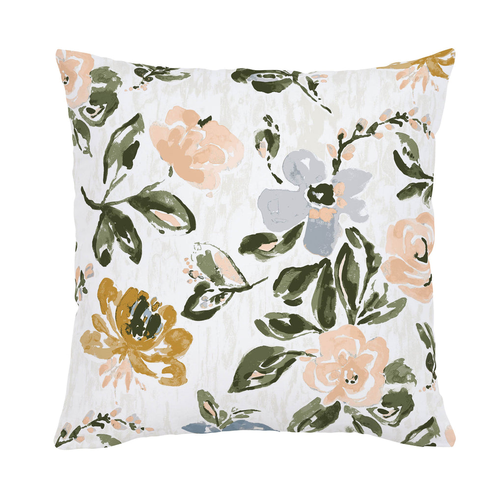 Product image for Blush Garden Throw Pillow