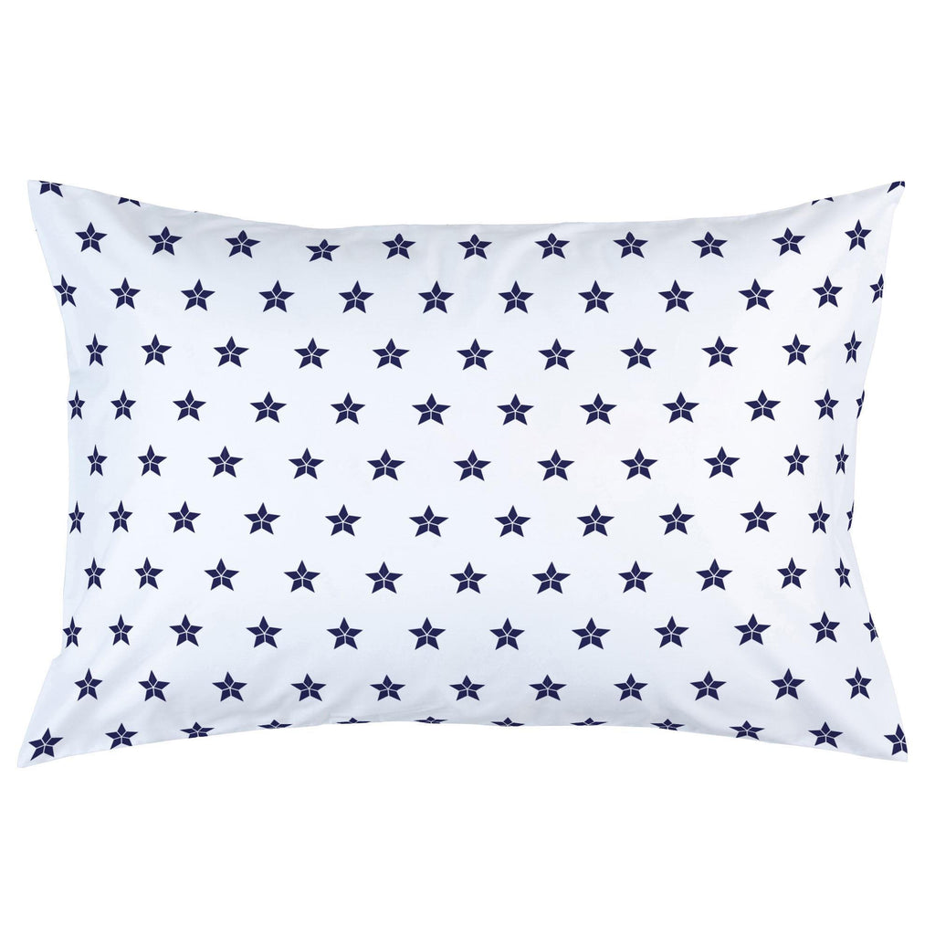 Product image for Navy Mosaic Stars Pillow Case