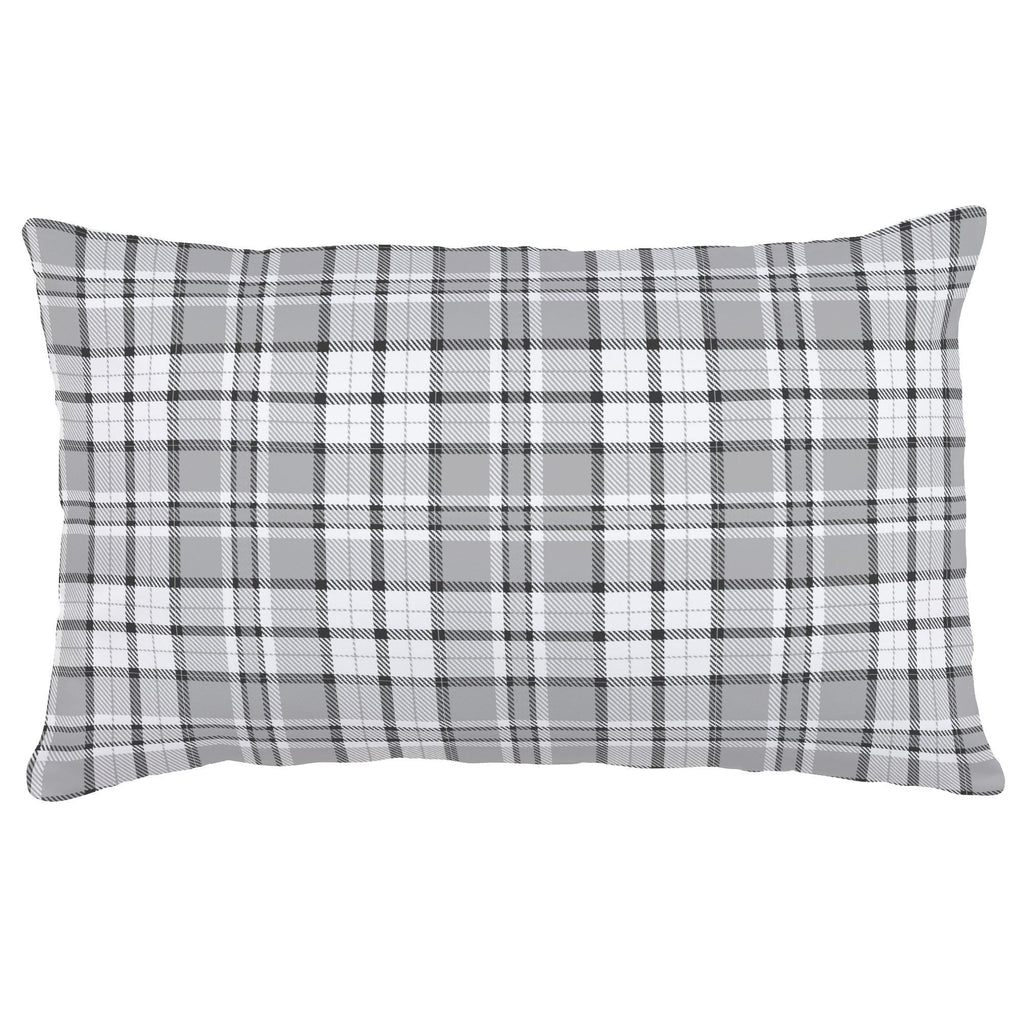 Product image for Gray Plaid Lumbar Pillow