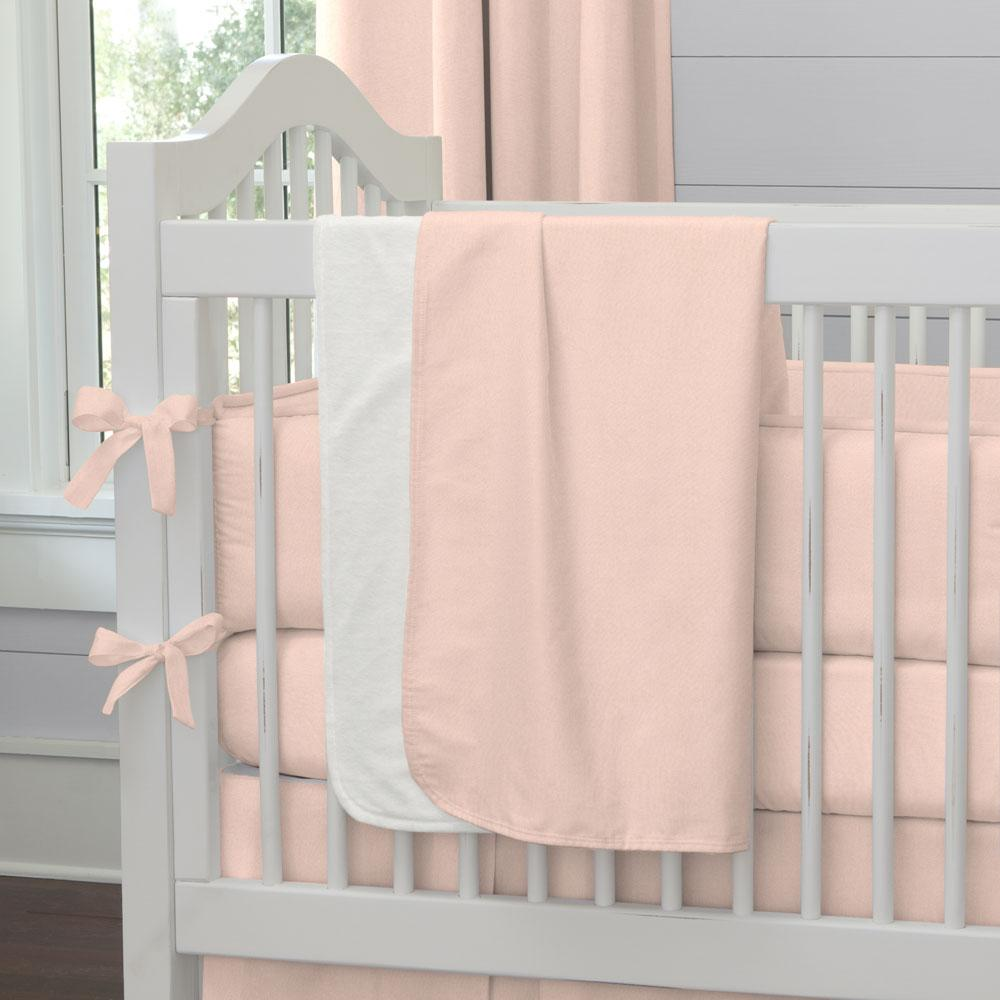 Product image for Solid Peach Baby Blanket
