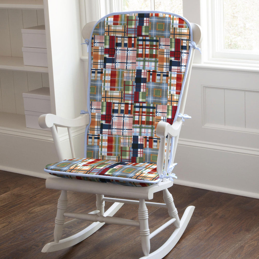 Product image for Patchwork Plaid Rocking Chair Pad