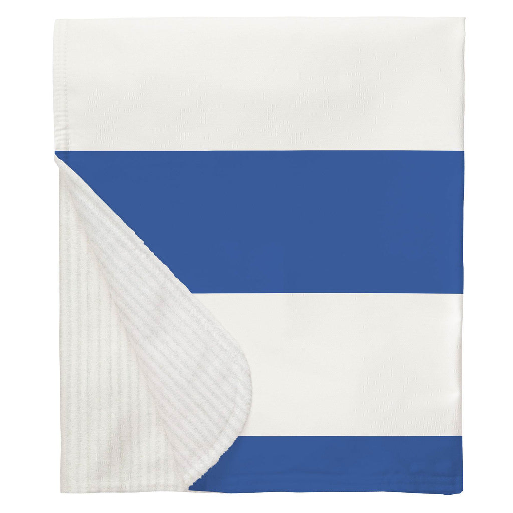 Product image for Ocean Blue Horizontal Stripe Baby Blanket