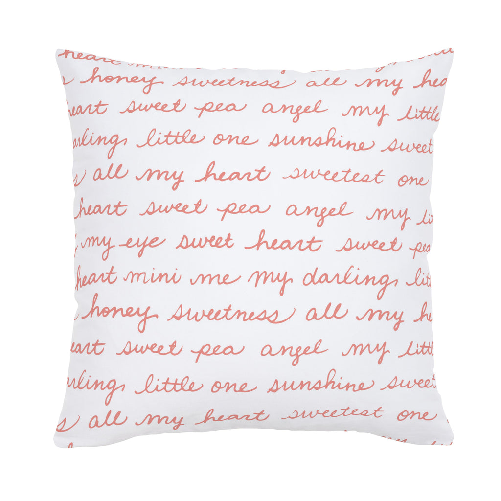 Product image for Light Coral Sweet Girl Throw Pillow
