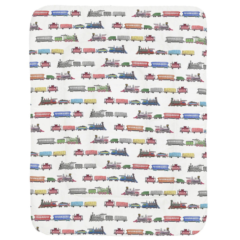 Product image for Watercolor Trains Crib Comforter
