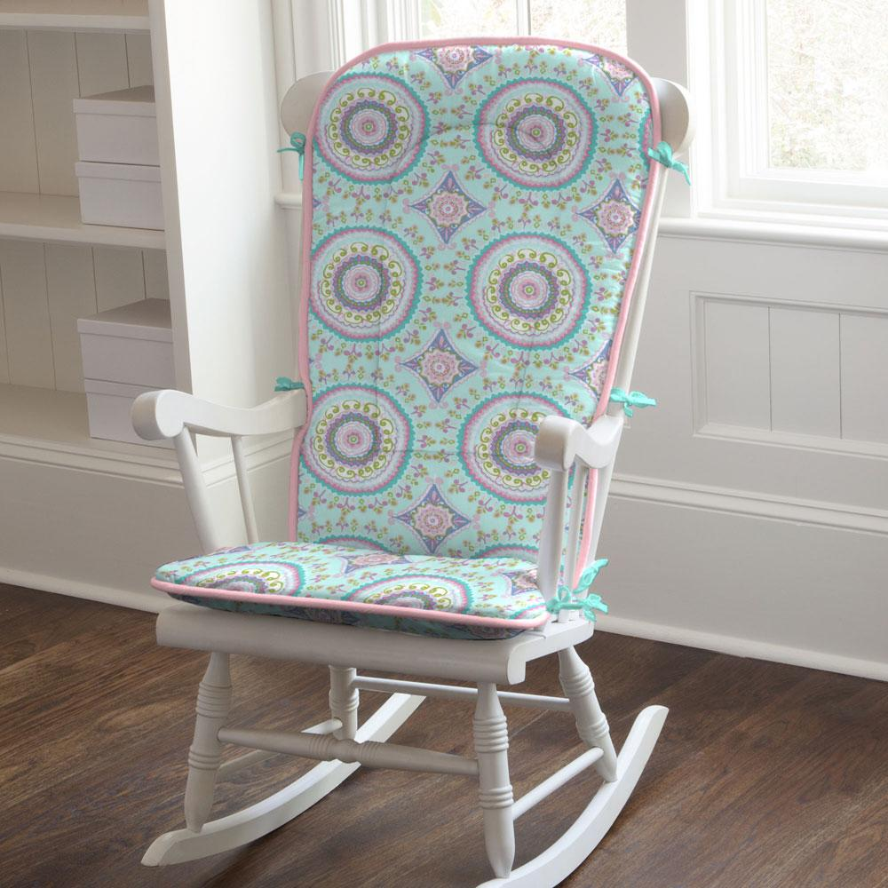 Product image for Aqua Haute Circles Rocking Chair Pad