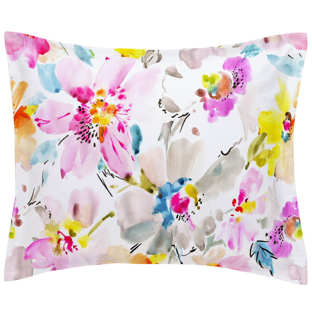 Product image for Watercolor Floral Pillow Sham