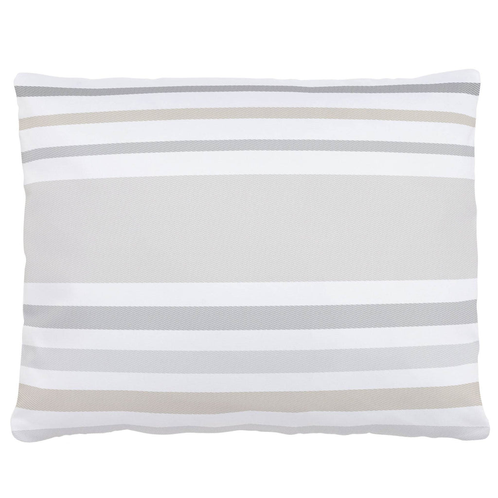 Product image for French Gray and Taupe Summer Stripe Accent Pillow