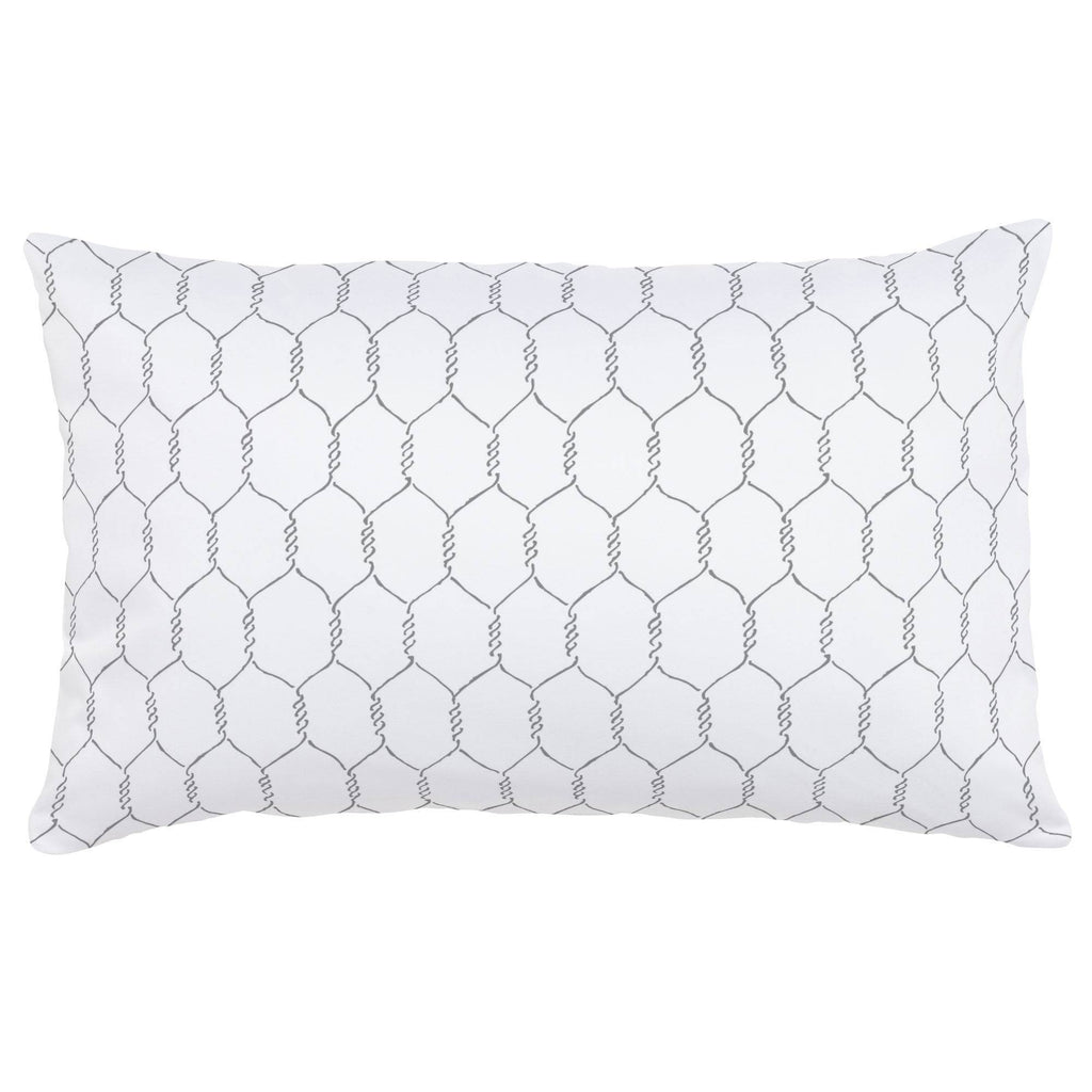 Product image for Gray Farmhouse Wire Lumbar Pillow