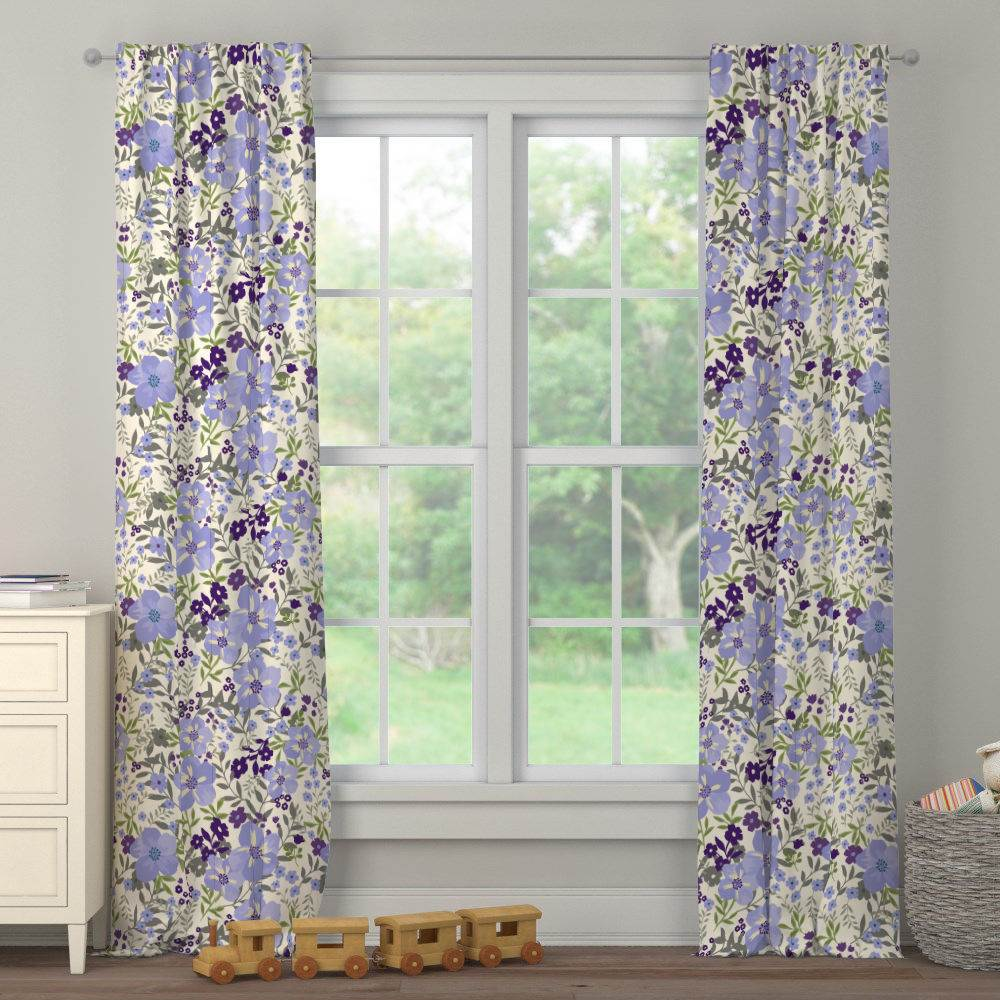 Product image for Lavender Floral Tropic Drape Panel