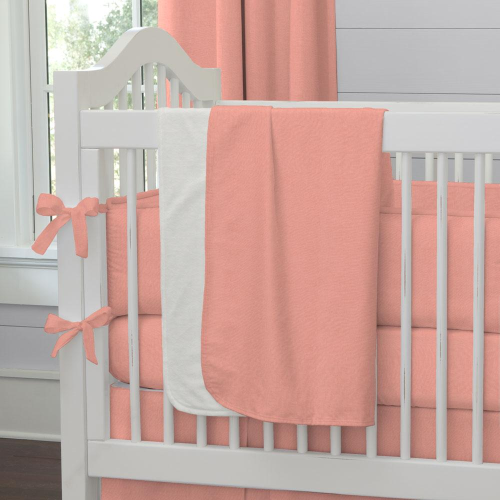 Product image for Solid Light Coral Baby Blanket