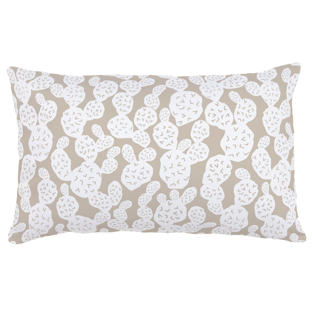 Product image for Taupe Prickly Pear Lumbar Pillow