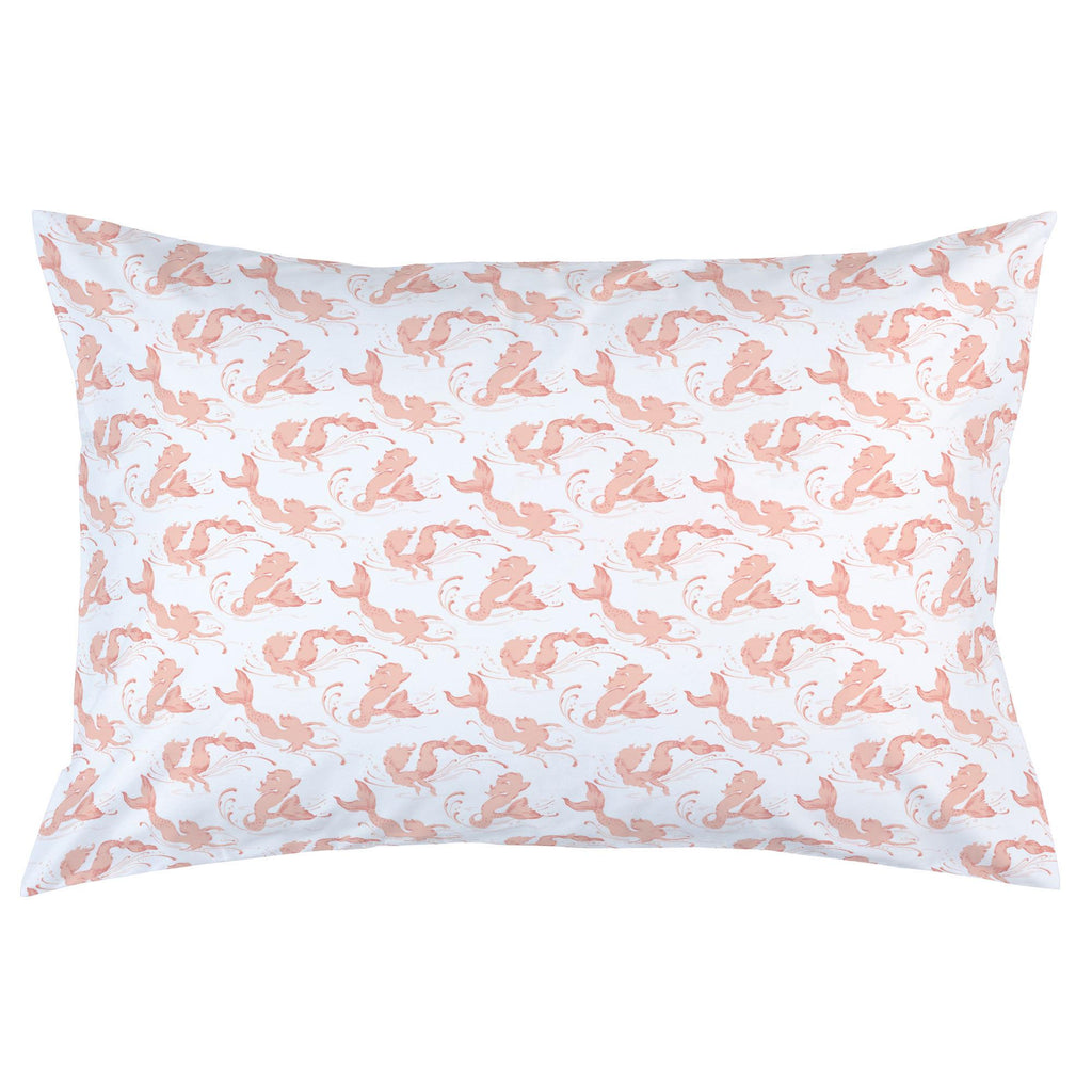 Product image for Peach Swimming Mermaids Pillow Case