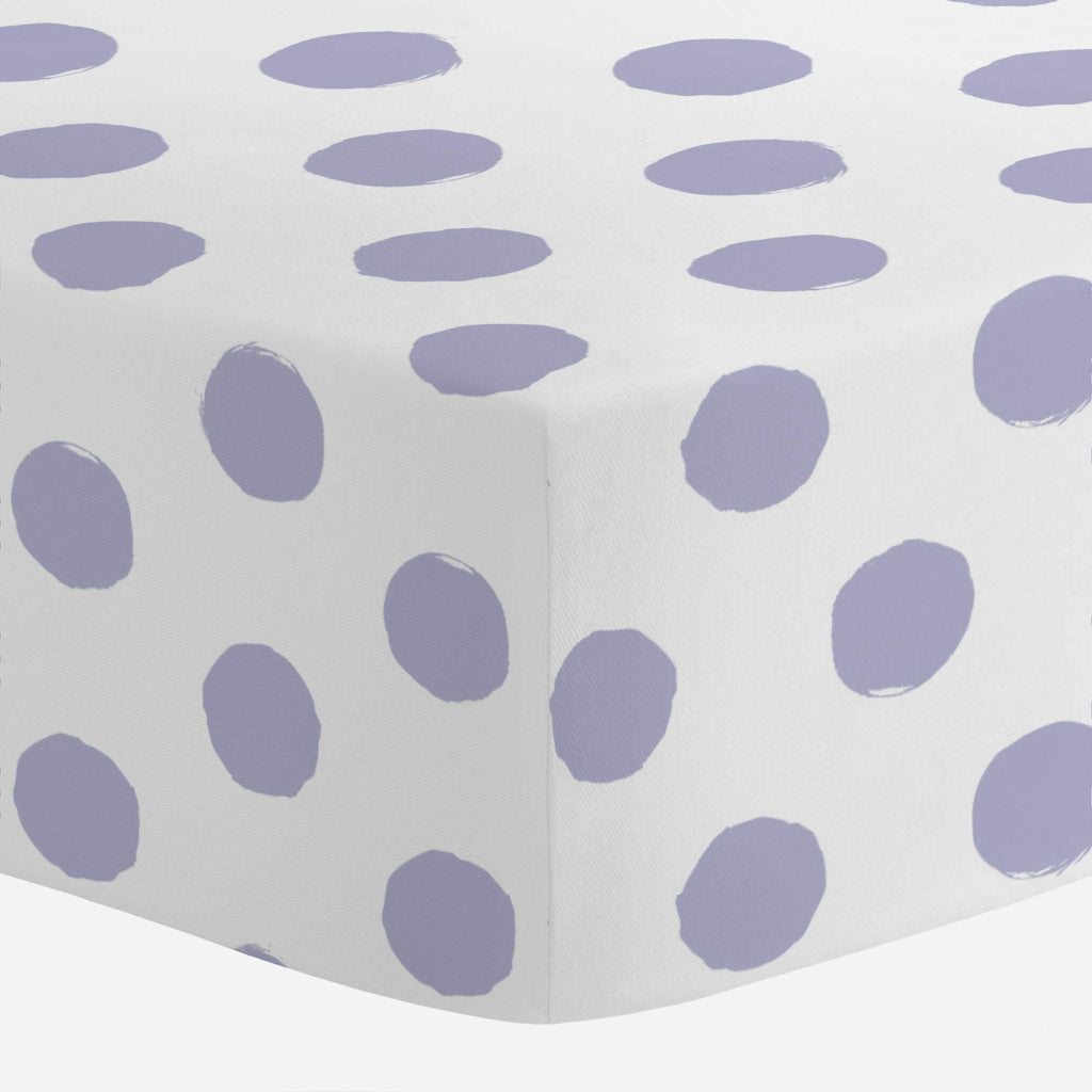 Product image for Lavender Brush Dots Crib Sheet