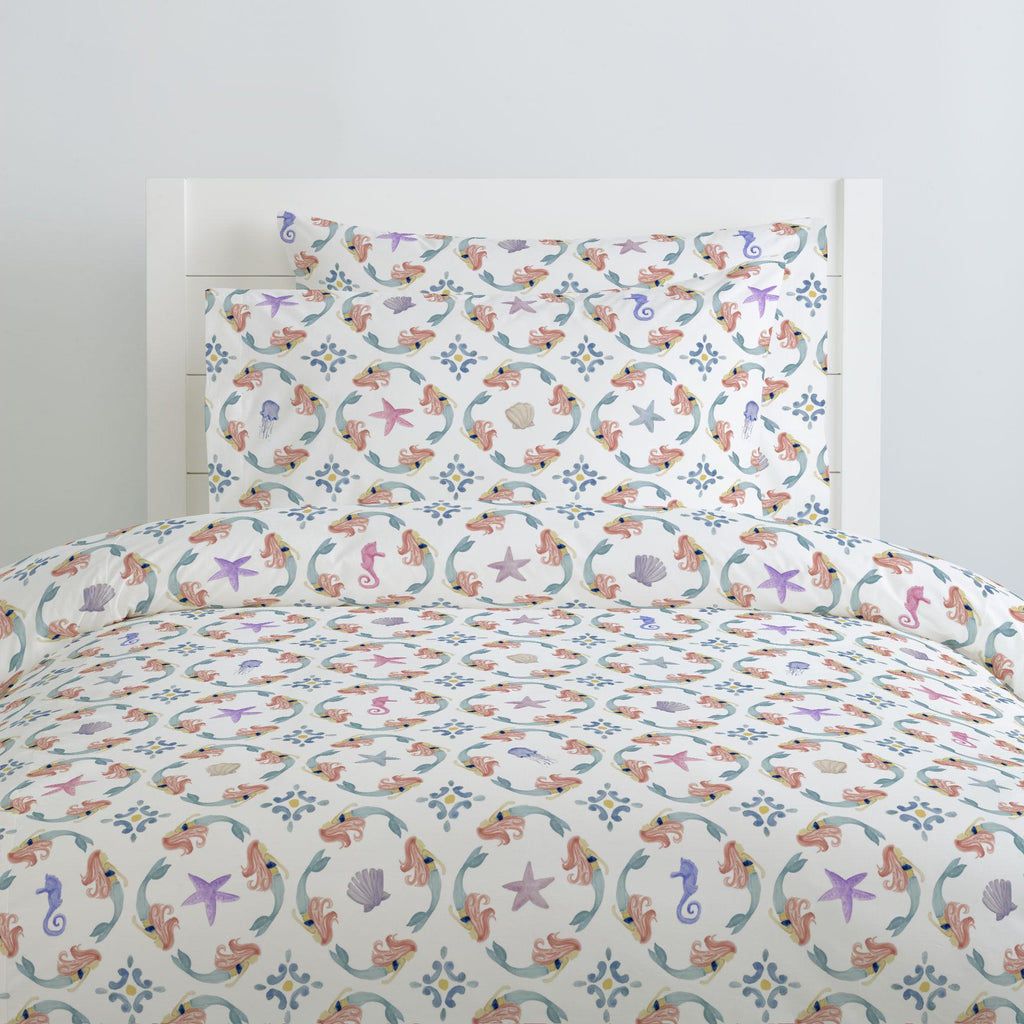 Product image for Mermaid Medallion Duvet Cover