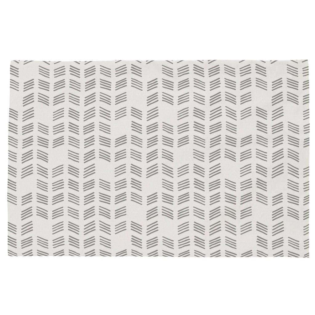 Product image for Silver Gray Tribal Herringbone Toddler Pillow Case