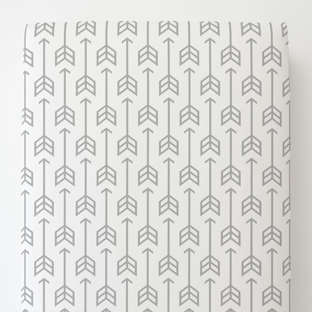 Product image for Silver Gray Arrow Toddler Sheet Bottom Fitted
