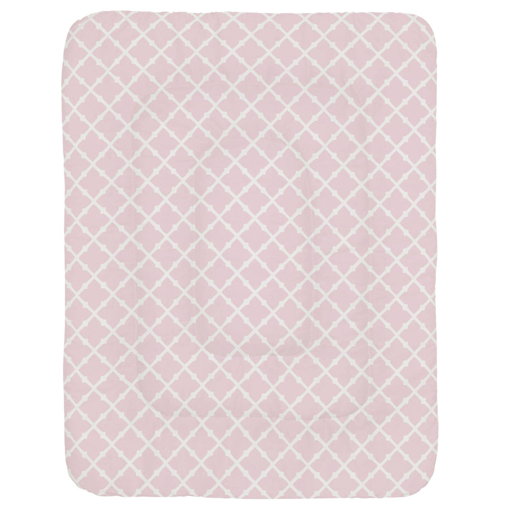 Product image for Pink Lattice Crib Comforter