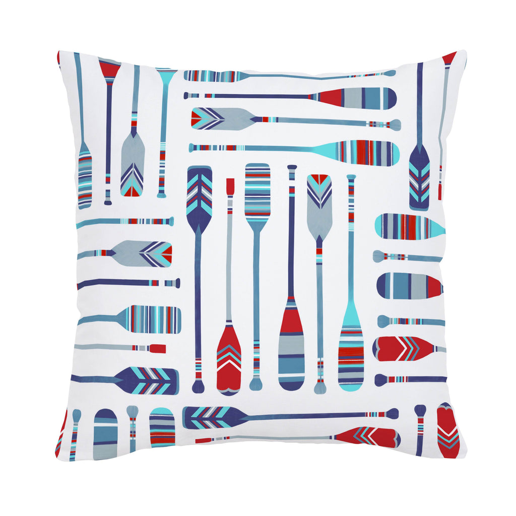 Product image for Red and Blue Oars Throw Pillow