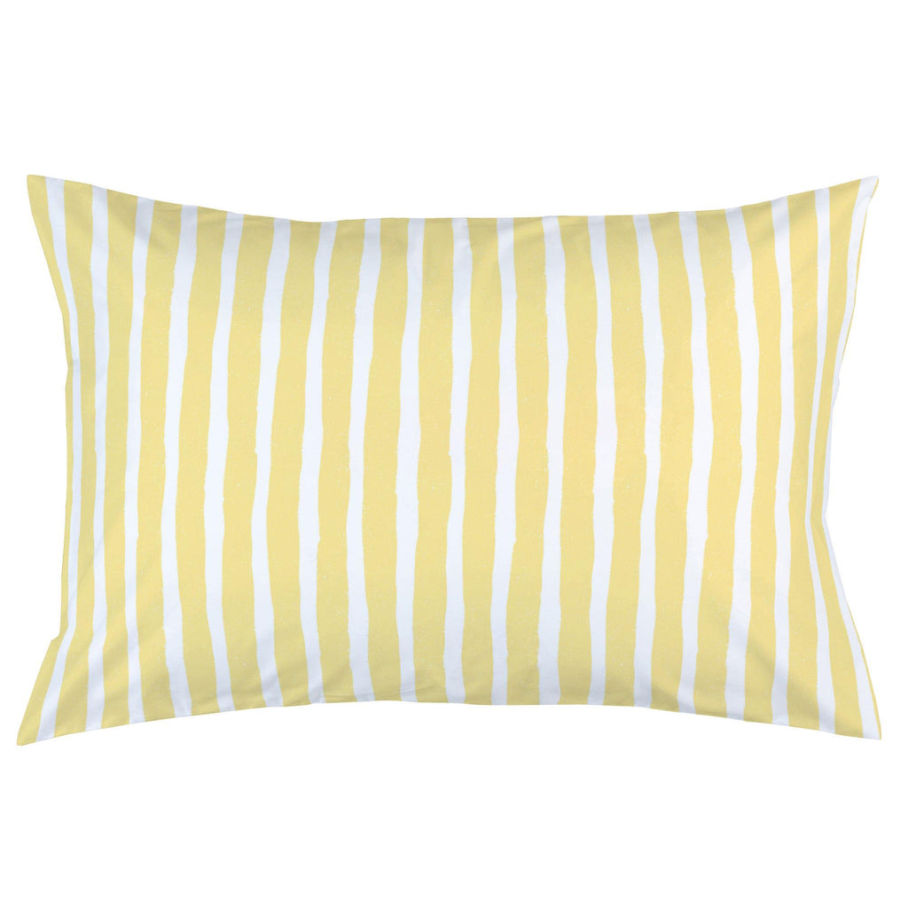 Product image for Banana Yellow Weathered Stripe Pillow Case