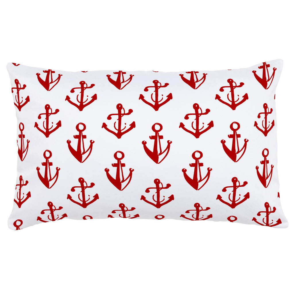 Product image for Red Anchors Lumbar Pillow