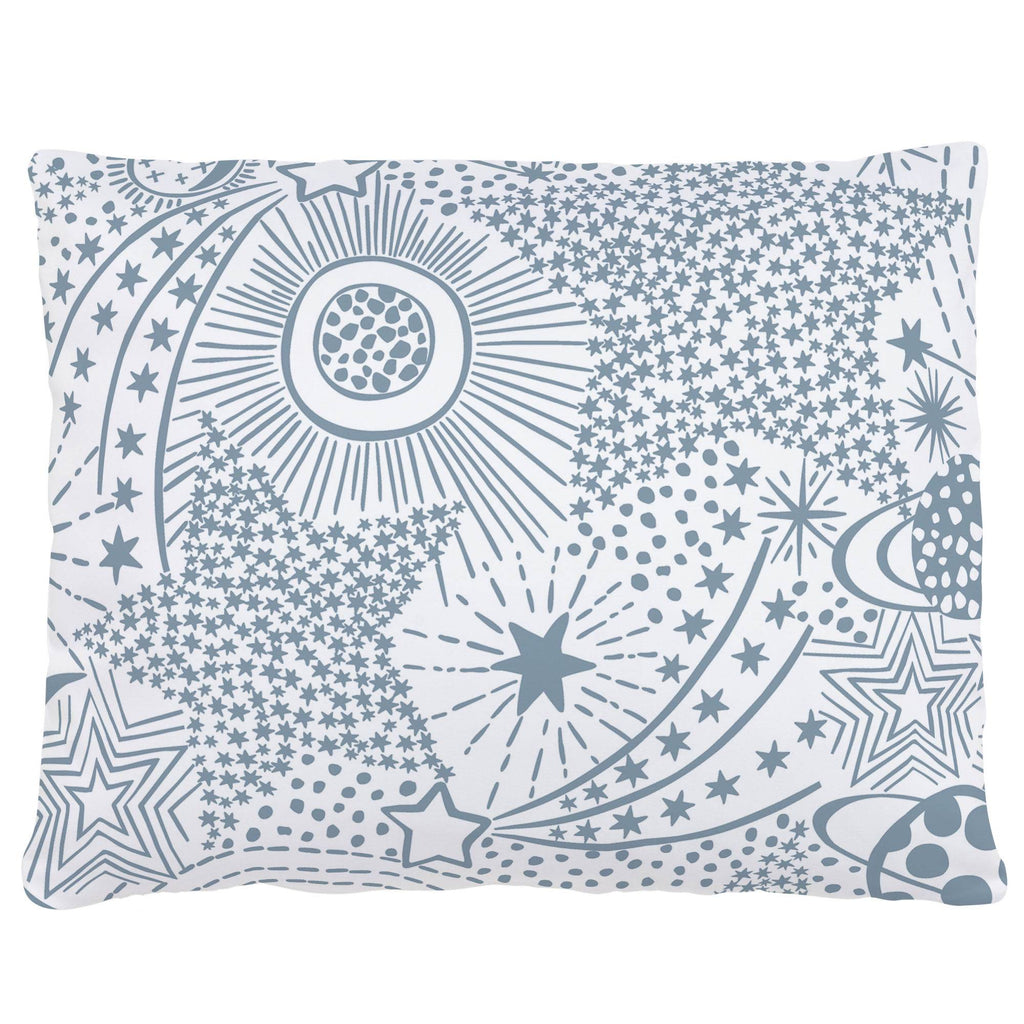 Product image for Steel Blue Galaxy Accent Pillow